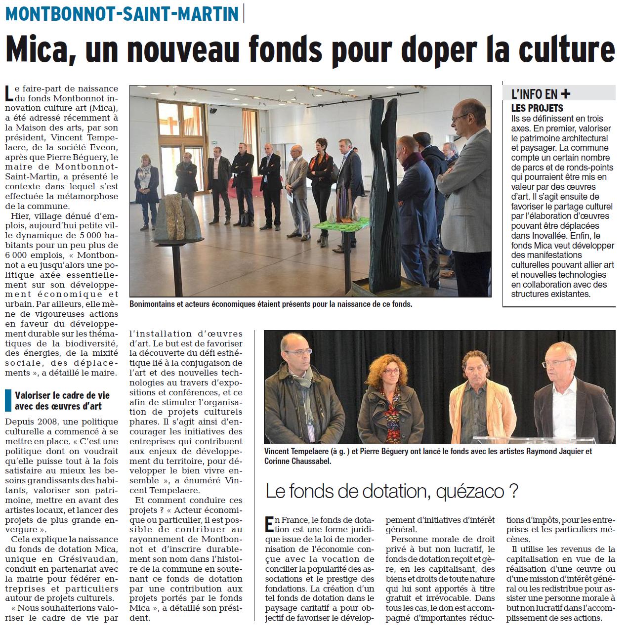 Lancement du fonds de dotation MICA